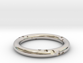 Orbit - Precious Metals in Rhodium Plated Brass: 5.5 / 50.25
