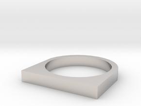 Rectangular Basic Ring in Platinum