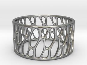 Framework Ring- Basic Intrincate Smooth in Natural Silver