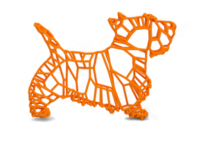 Wall decoration in Orange Processed Versatile Plastic