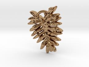 Leaf  in Polished Brass