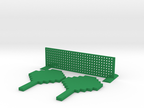 Minecraft Inspired Mini Ping Pong in Green Processed Versatile Plastic