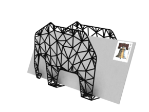 Elephant Envelope Holder  in Black Strong & Flexible