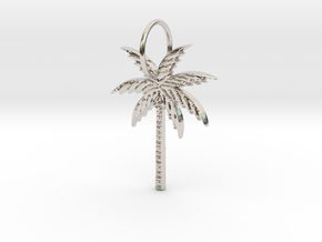 Palm tree in Rhodium Plated Brass