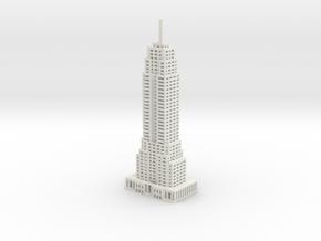 Final Empire State Building in White Natural Versatile Plastic