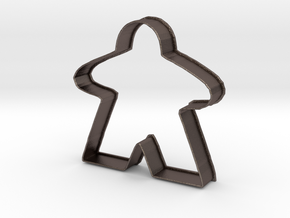 Meeple Cookie Cutter in Polished Bronzed Silver Steel