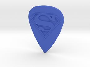 Superman Guitar Pick in Blue Processed Versatile Plastic