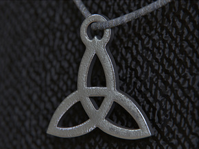 Triquetra Pendant (Triad) in Polished and Bronzed Black Steel