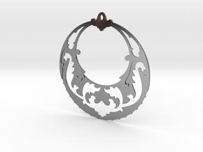BlakOpal Victorian Open Hoop Earring in Polished Silver