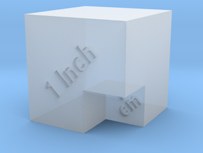 Scale Cube for photos in Smooth Fine Detail Plastic