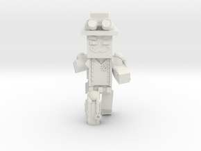 Steampunk Minecraft in White Natural Versatile Plastic