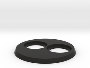 40K 60mm W 25mm Inserts in Black Natural Versatile Plastic