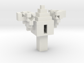 Minecraft 3D Model Treehouse in White Natural Versatile Plastic