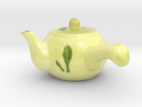The Asian Teapot-mini in Glossy Full Color Sandstone