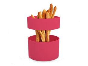 "Snack dish ""Magic loops"" in White Natural Versatile Plastic"