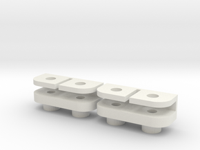 Savöx 1251MG Clamp For SDS 2.0 in White Natural Versatile Plastic