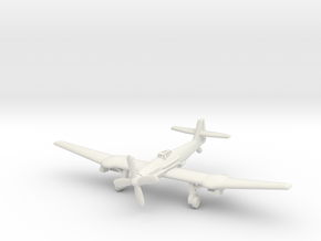 Blohm & Voss BV 155B (landing gear) 1/285 6mm in White Natural Versatile Plastic