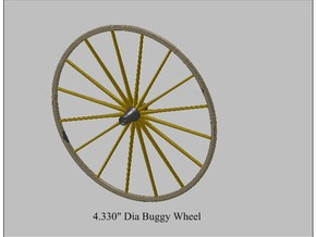 9th Scale Surrey Front Wheel in White Strong & Flexible Polished