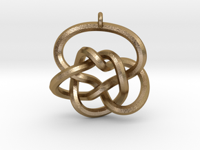Knot Pendant (Earrings) in Polished Gold Steel
