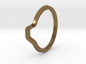 BETTER HALF Ring(HEXAGON), US size 6, d=16,5mm  in Natural Bronze: 6 / 51.5