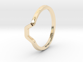 BETTER HALF Ring(HEXAGON), US size 6, d=16,5mm  in 14k Gold Plated Brass: 6 / 51.5