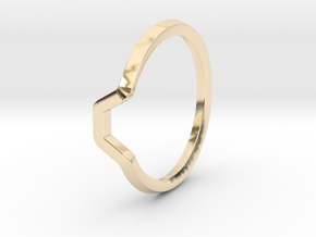 BETTER HALF Ring(HEXAGON), US size 11 d=20,5mm in 14K Yellow Gold: 11 / 64