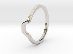BETTER HALF Ring(HEXAGON), US size 11 d=20,5mm in Platinum: 11 / 64