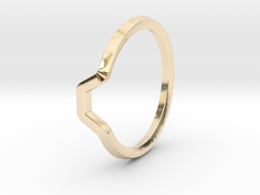BETTER HALF Ring(HEXAGON), US size 8.5, d=18,5mm  in 14k Gold Plated Brass: 8.5 / 58