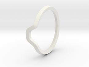 BETTER HALF Ring(HEXAGON), US size 4.5, d=15mm  in White Natural Versatile Plastic: 4.5 / 47.75