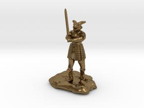 Dragonborn in Splint with Greatsword in Natural Bronze