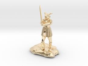 Dragonborn in Splint with Greatsword in 14K Yellow Gold
