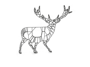 Deer in Black Strong & Flexible