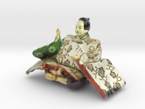 The Japanese Hina Doll-7-mini in Glossy Full Color Sandstone