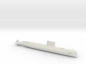 USS Nautilus (SSN-571), Full Hull, 1/1800 in White Natural Versatile Plastic