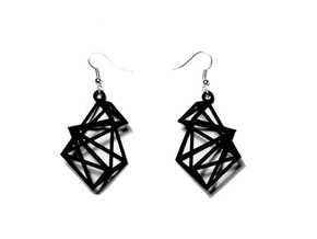 Radical Earrings in Black Natural Versatile Plastic