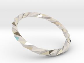 Twistium - Bracelet P=160mm Color in Rhodium Plated Brass