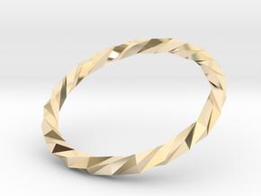 Twistium - Bracelet P=170mm Color in 14K Yellow Gold