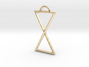 Hourglass Pendant in 14k Gold Plated Brass