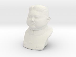 Kim Jonh-un bust - downloadable in White Natural Versatile Plastic