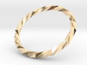 Twistium - Bracelet P=180mm Color in 14K Yellow Gold