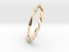 Twistium - Bracelet P=200mm Color in 14K Yellow Gold