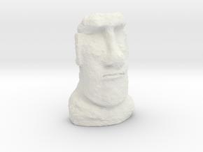 N Gauge Moai Head (Easter Island head) in White Natural Versatile Plastic