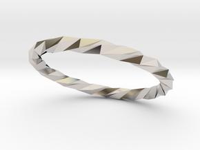 Twistium - Bracelet P=210mm Color in Platinum