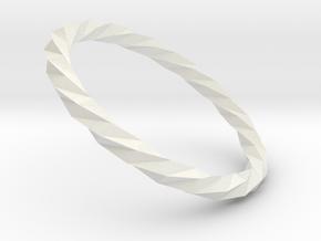 Twistium - Bracelet P=220mm Color in White Natural Versatile Plastic