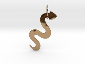 Silver Serpent Pendant in Polished Brass