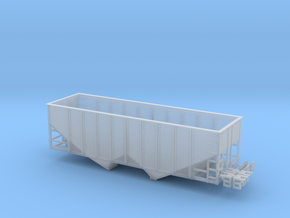 TT Scale 2 Bay Hopper 8 Panel (V2) in Smooth Fine Detail Plastic