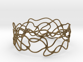Bracelet 'Wave Length' in Raw Bronze