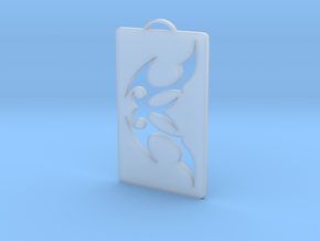 Tattoo Tribal pendant in Smooth Fine Detail Plastic