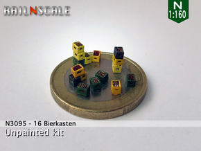 16 Bierkästen (N 1:160) in Smoothest Fine Detail Plastic