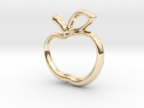 Apple Charm - 11mm in 14k Gold Plated Brass